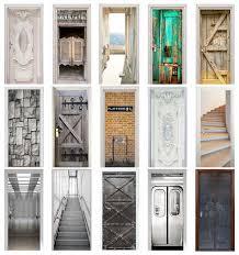 Door Stickers Home Decor Door Wrap Wall Sticker Mural Wallpaper Poster Self Adhesive Pvc Removable Waterproof Door Decal Door Stickers Aliexpress