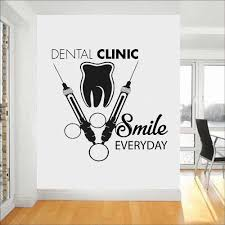 Tooth Healthcare Dental Clinic Wall Decal Smile Everyday Quote Vinyl Wall Stickers Stomatology Decals Teeth Wall Decor Z739 Wall Stickers Aliexpress