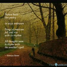 nature heals like poetry quotes writings by sumaiya ikram