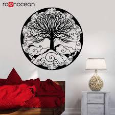 Vinyl Wall Decal Tree Of Life Family Symbol Ornament Fantasy Stickers Circle Of Life Decal Kabbalah Symbol Art Yd41 Wall Stickers Aliexpress