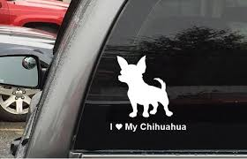 Collectibles Animals Car Window Decals Chihuahua I Love Chihuahuasdogsstickers Cars Trucks Glass Zsco Iq
