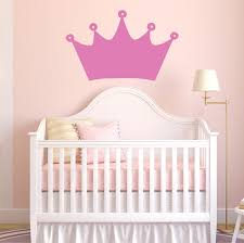 Princess Crown Decals Choose Color And Size Girls Nursery Etsy
