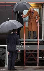 Lord Lieutenant of West Glamorgan Byron Lewis greets Britain's ...