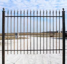 Solid Wrought Iron Quad Finial Fencing Gates