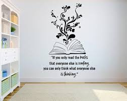 Book Wall Decal Reading Wall Decal Library Wall Decal Etsy