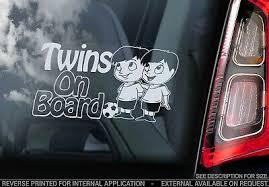 Twins On Board Car Window Sticker Brothers Boys Child Cartoon Decal V01 4 16 Picclick
