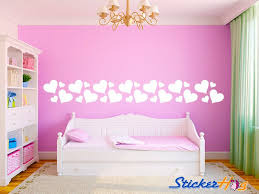 Hearts Border Vinyl Wall Decal Girls Bedroom Home Decor