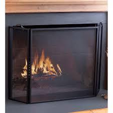 classic tri fold flat guard fire screen