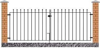 Manor Ball Top Driveway Gates 2134mm 7ft Gap X 915mm High Wrought Iron Dual Swing Metal Gate Ma40 Amazon Co Uk Garden Outdoors