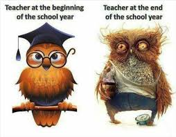 teacher and the beginning of the school year teacher at the end