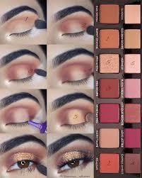 gold glitter bronze makeup tutorial