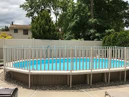Semi Inground With Safety Fence Woodbridge Pools Facebook