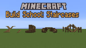 Minecraft Build School Staircases Youtube