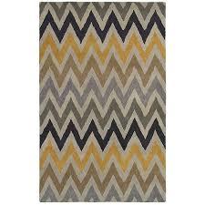 Multicolor Chevron Hand Tufted Wool Area Rug 8x10 Kirklands