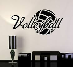 Vinyl Wall Decal Volleyball Ball Word Sport Stickers Mural Ig3769 Ebay
