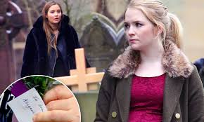 Eastenders pregnant Abi Branning attends own funeral | Daily Mail Online