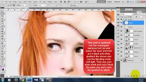 how to put makeup in photo cs5