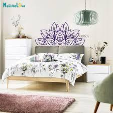 Half Mandala Wall Decal Beautiful Lotus Flower Design Home Bedroom Living Room Yoga Decor Removable Vinyl Wall Sticker Bb931 Leather Bag