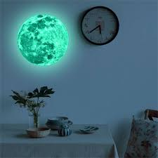20cm Luminous Moon Earth Cartoon Diy 3d Wall Stickers For Kids Room Bedroom Glow In The Dark Wall Sticker Home Decor Living Room Wall Stickers Aliexpress