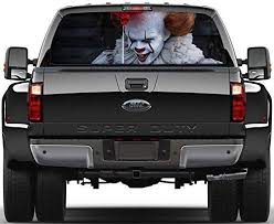 Amazon Com Donl9bauer Pennywise Car Decal Perforated Window Decal Pennywise Sticker Car Sticker Car Rear Window Graphic Decal See Through Graphics M70 Home Kitchen