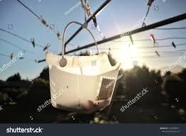 Peg Basket Hanging Washing Line Silhouette Stock Photo Edit Now 1328790971