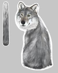 Wolf Wagging Wipers Car Rear Window Sticker Make Your Rear Wiper Look Like A Wolf With A Wagging Tail