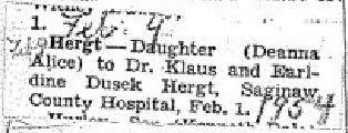 Deanna Hergt, daughter to Klaus Hergt ad Earldine King Dusek Hergt.  Earldine is the daughter of Earl King and Ada Keller King | Family history,  Klaus, History