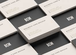 grid style business card mockup psd