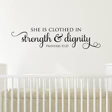 Strength Dignity Wall Quotes Decal Wallquotes Com