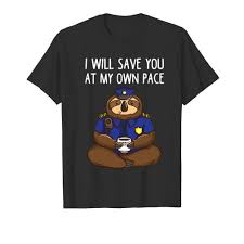 police officer sloth funny kids gifts