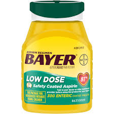 Aspirin Regimen Bayer Low Dose Pain Reliever Enteric Coated ...