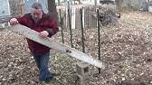 I Demonstrate And Review The Harbor Freight T Post Puller Youtube