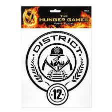 Hunger Games Girl On Fire District 12 Vinyl Decal Sticker On Onbuy