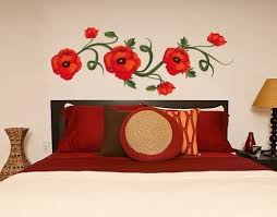 Amazon Com Style Apply Poppies Wall Decal Wall Print Decal Sticker Mural Vinyl Art Home Decor Ds 1041 24in X 9in Home Kitchen