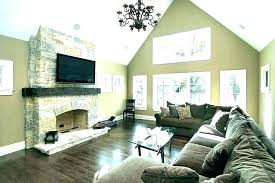 tv next to fireplace ideas over