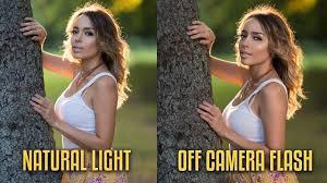 natural light versus off camera flash