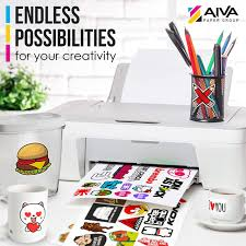 Printing Vinyl Stickers At Home Printable Vinyl Sticker Paper Waterproof Decal Paper For Inkjet Printer 15 Self Adhesive Sheets Matte White Standard Letter Size 8 5 X11 Equalmarriagefl Vinyl From Printing Vinyl