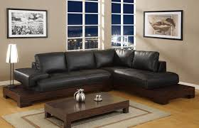 brown leather sofa white walls accent