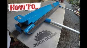 how to home made sheet metal brake