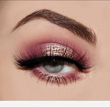 beautiful pink eye makeup glitter