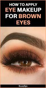 formal eye makeup for brown eyes