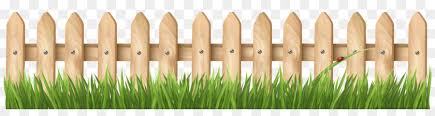 Grass Cartoon Clipart Fence Garden Grass Transparent Clip Art