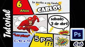 Invitacion Infantil Con Photoshop Cs6 Youtube