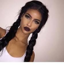 dark hair tanned skin dark makeup