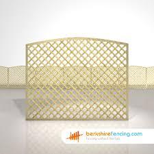 Convex Diamond Trellis Fence Panels 5ft X 6ft Natural