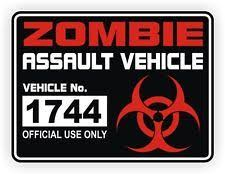 Zombie Window Decals Ebay Zombie Assault Zombie Zombie Vehicle