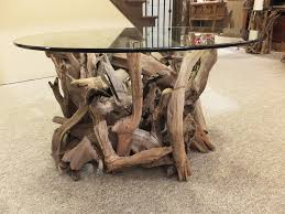 round coffee table sold driftwood