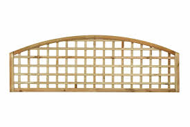 Open Square Convex Arched Topper Trellis Panel 70mm Gap Painted Options Available The Garden Trellis Company