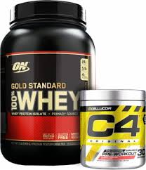 stacks gold standard whey c4 bundle at