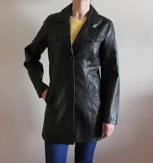 vintage dark brown trench coat faux